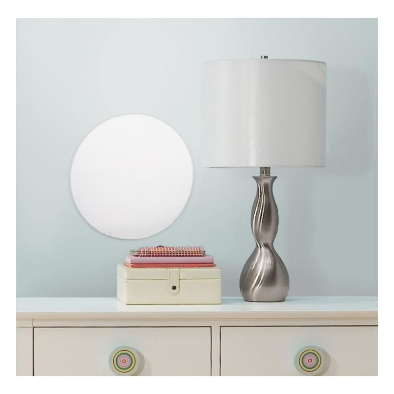 York Wallcoverings MIR0006DTL RoomMates Dot/Circle Peel & Stick Mirror