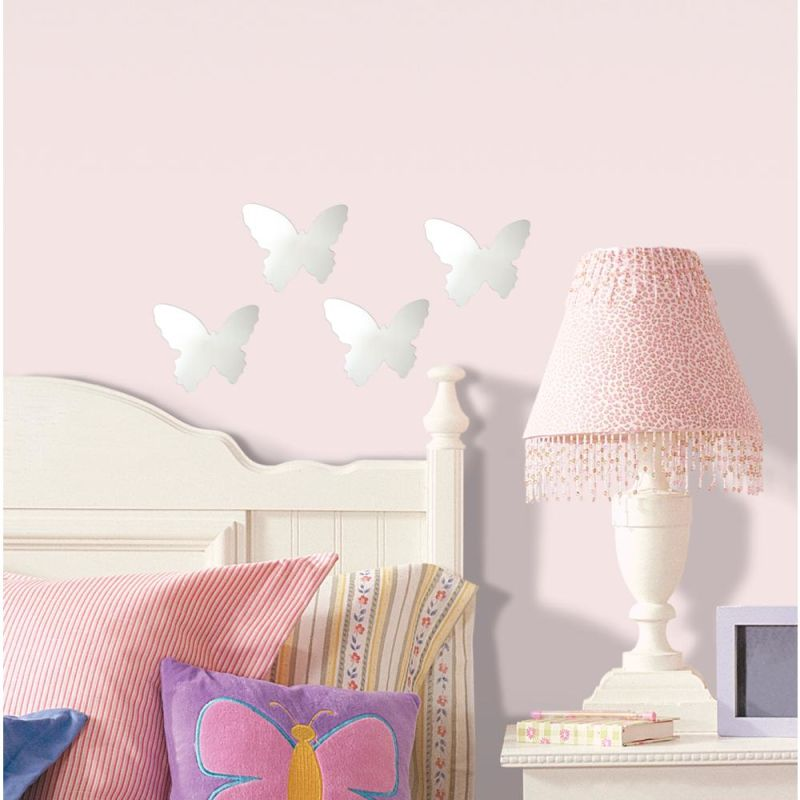 York Wallcoverings MIR0008BTS RoomMates Butterfly Peel & Stick Mirror