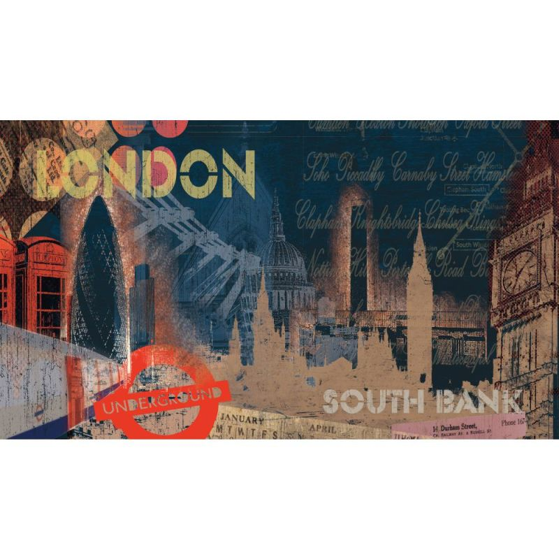 York Wallcoverings MP4998M RoomMates Streets of London Chair Rail