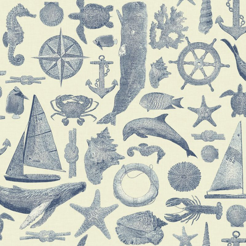 York Wallcoverings NY4820 Nautical Living Maritime Wallpaper White Sale $131.97 ITEM: bci2658380 ID#:NY4820 UPC: 34878591100 :