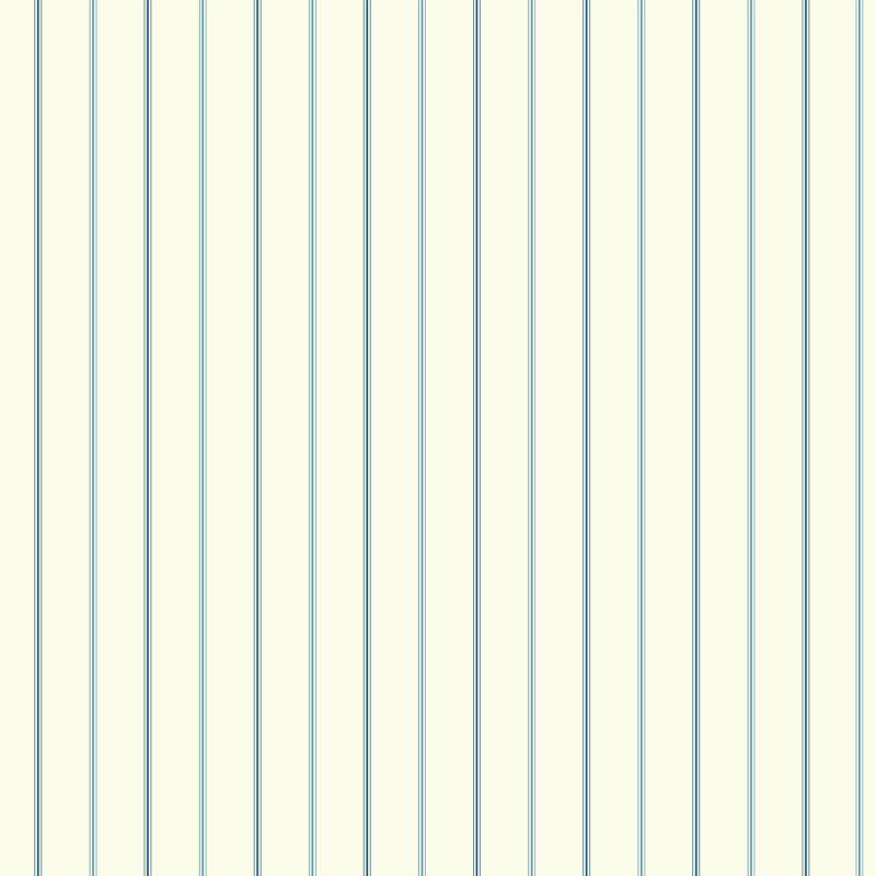 York Wallcoverings NY4855 Nautical Living 3-Pinstripe Wallpaper White