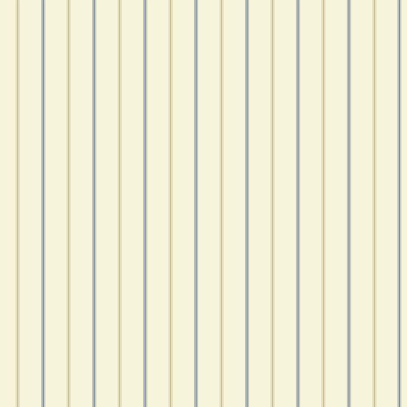 York Wallcoverings NY4856 Nautical Living 3-Pinstripe Wallpaper Cream