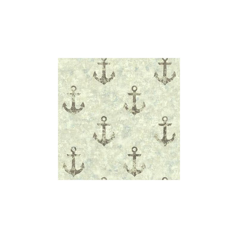 York Wallcoverings NY4916 Nautical Living Anchor Away Wallpaper Cream