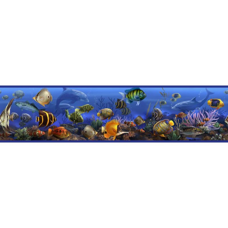 York Wallcoverings RMK1004BCS RoomMates Under the Sea Peel & Stick