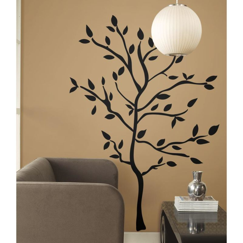 York Wallcoverings RMK1317GM RoomMates Tree Branches Peel & Stick Wall