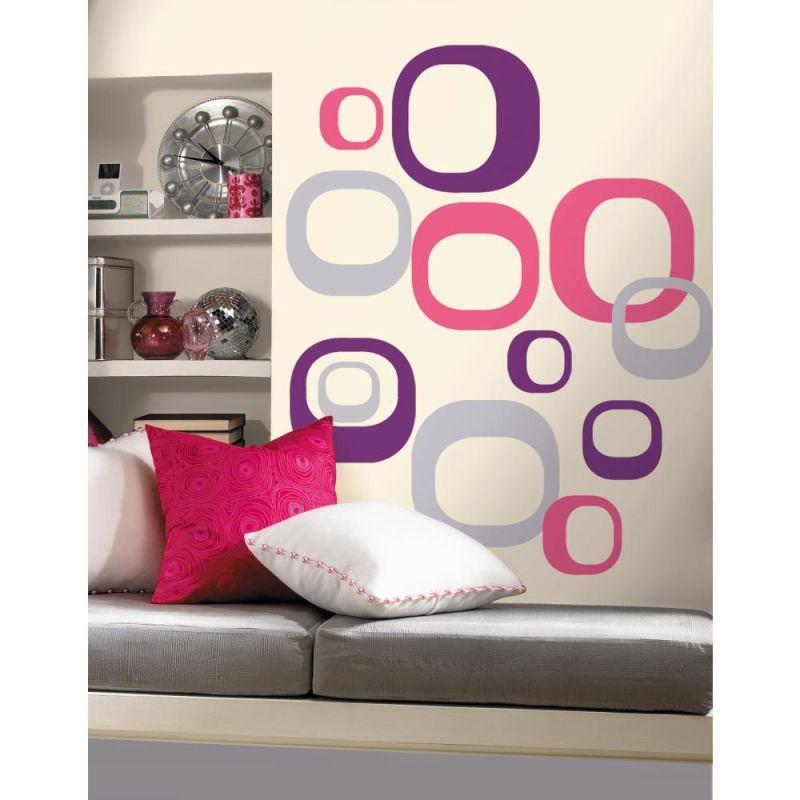 York Wallcoverings RMK1343GM RoomMates Modern Ovals Peel & Stick Wall