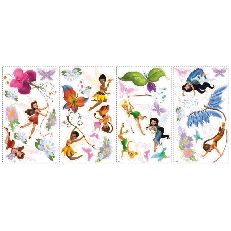 York Wallcoverings RMK1493SCS RoomMates Disney Fairies Peel & Stick