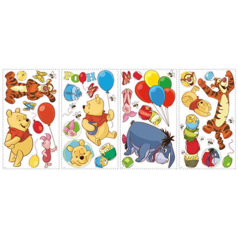 York Wallcoverings RMK1498SCS RoomMates Winnie the Pooh - Pooh &