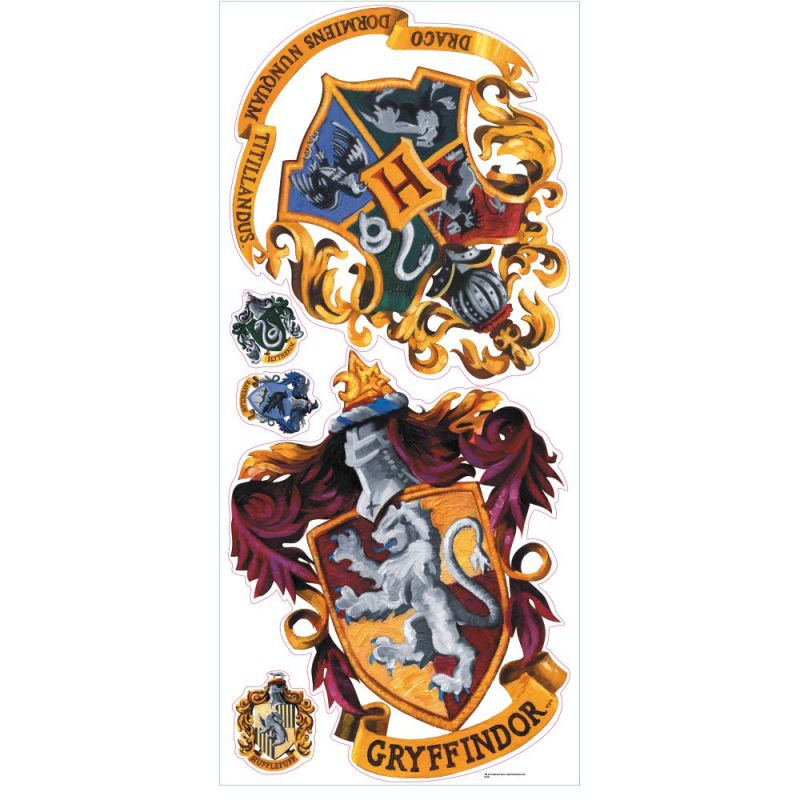 York Wallcoverings RMK1551GM RoomMates Harry Potter - Crest Peel &