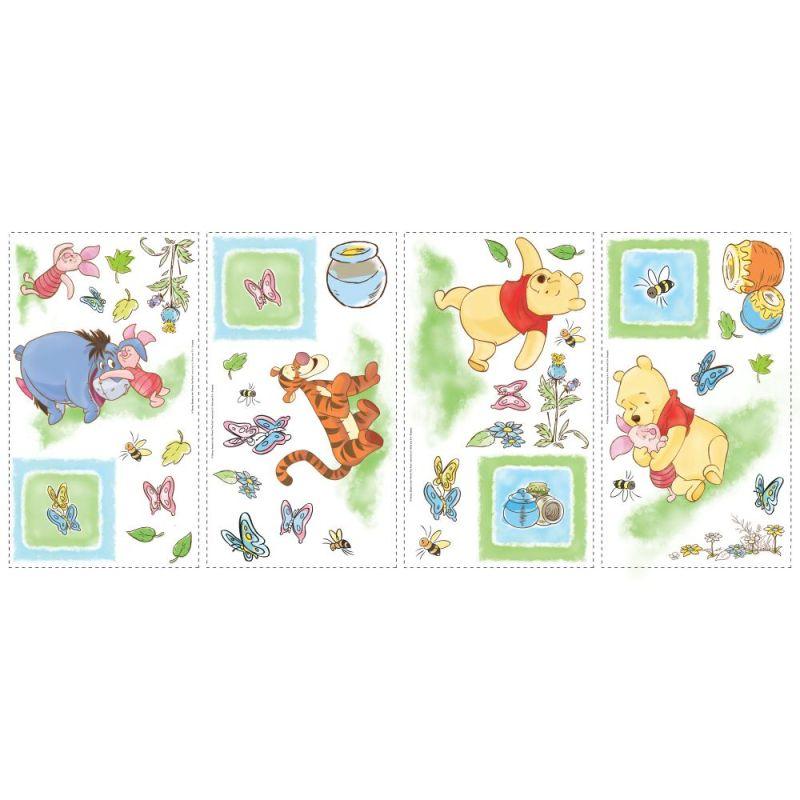 York Wallcoverings RMK1630SCS RoomMates Winnie the Pooh - Toddler Peel