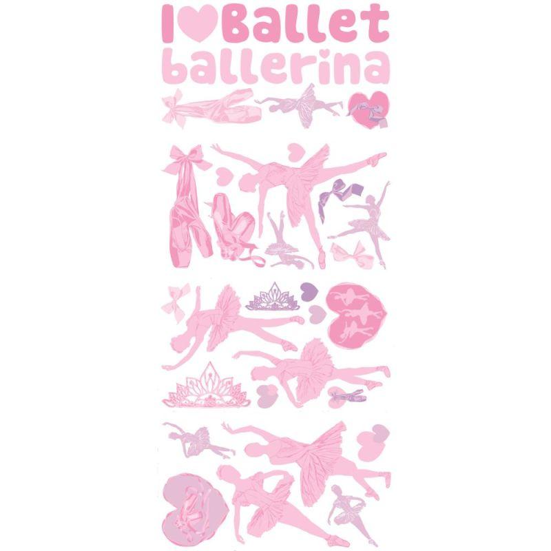 York Wallcoverings RMK1656SCS RoomMates Ballet Peel & Stick Wall