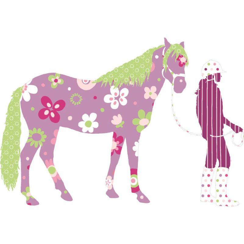 York Wallcoverings RMK1664SLM RoomMates Horse Crazy Peel & Stick Giant