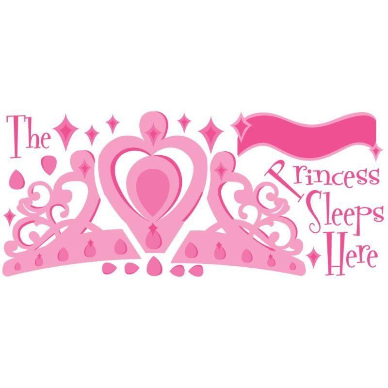 York Wallcoverings RMK1787GM RoomMates Princess Sleeps Here Peel &