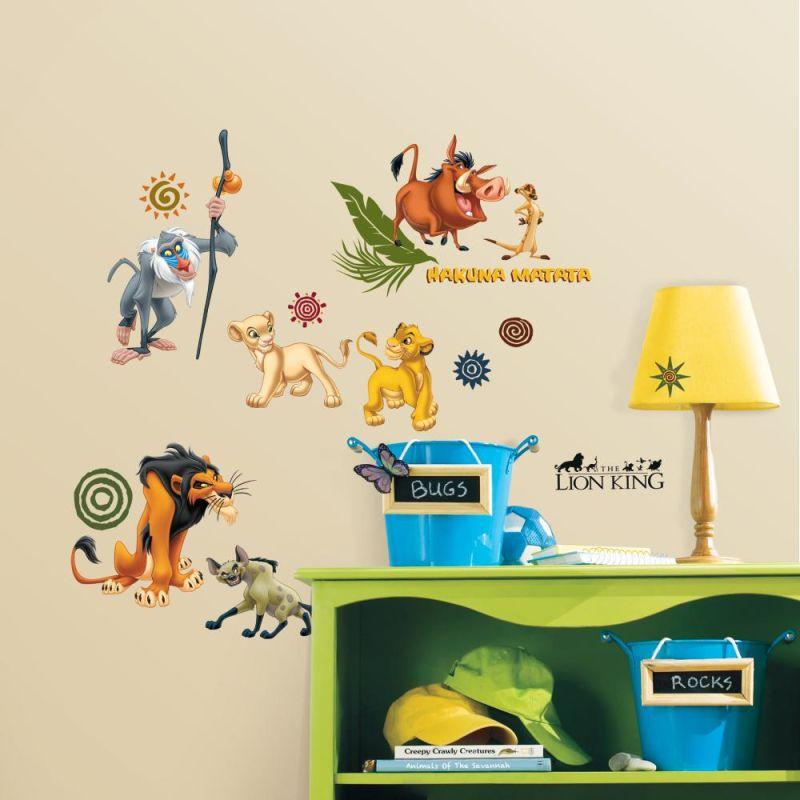 York Wallcoverings RMK1921SCS RoomMates The Lion King Peel & Stick