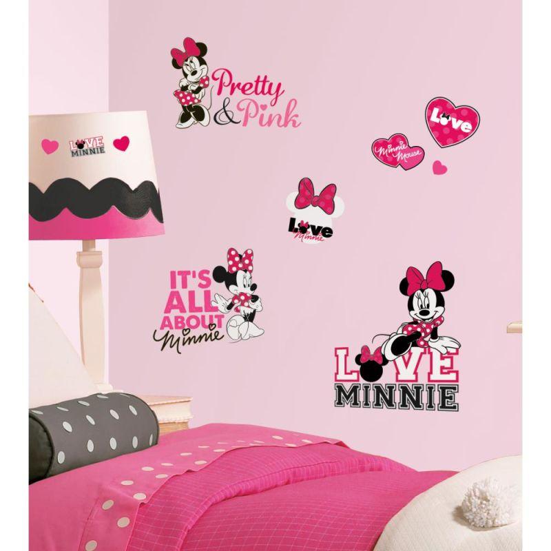 York Wallcoverings RMK2180SCS RoomMates Mickey & Friends - Minnie