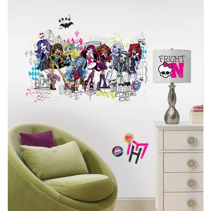 York Wallcoverings RMK2256GM RoomMates Monster High Group Peel & Stick