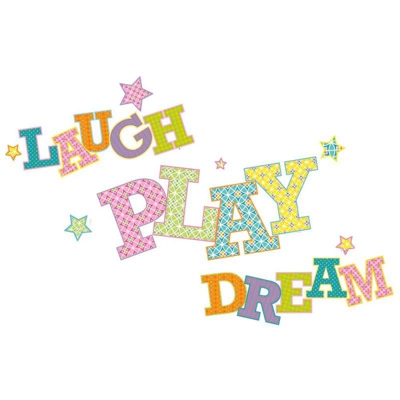 York Wallcoverings RMK2279GM RoomMates Laugh Play Dream Peel & Stick
