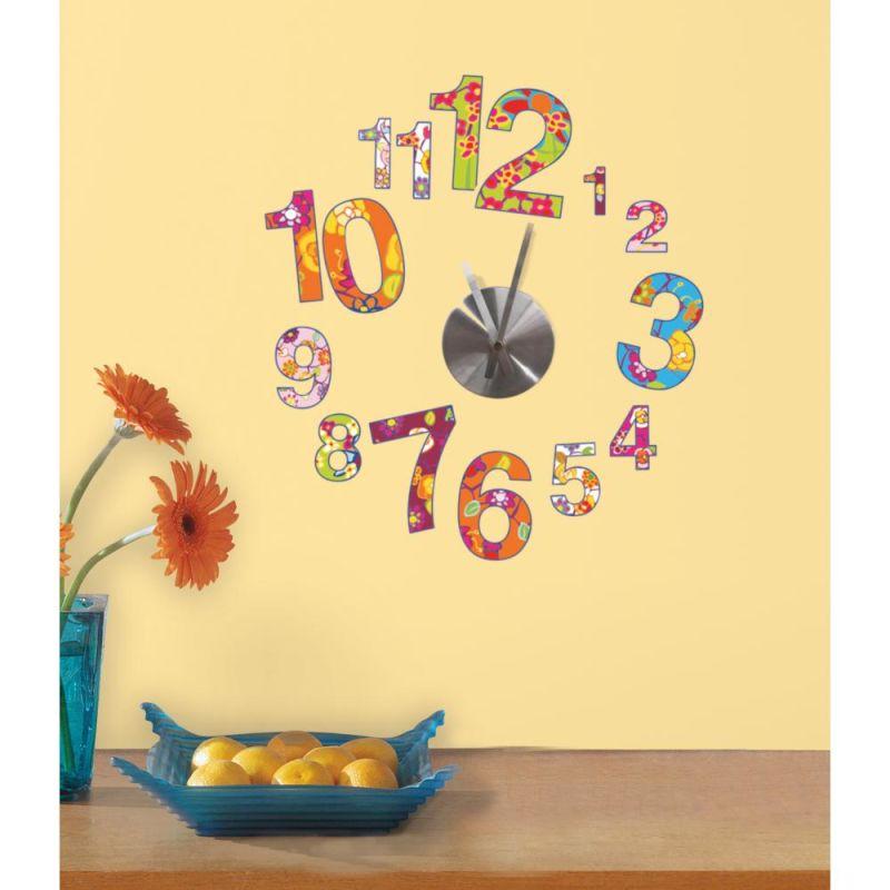 York Wallcoverings RMK2291CLK RoomMates Colorful Clock Wall Clock