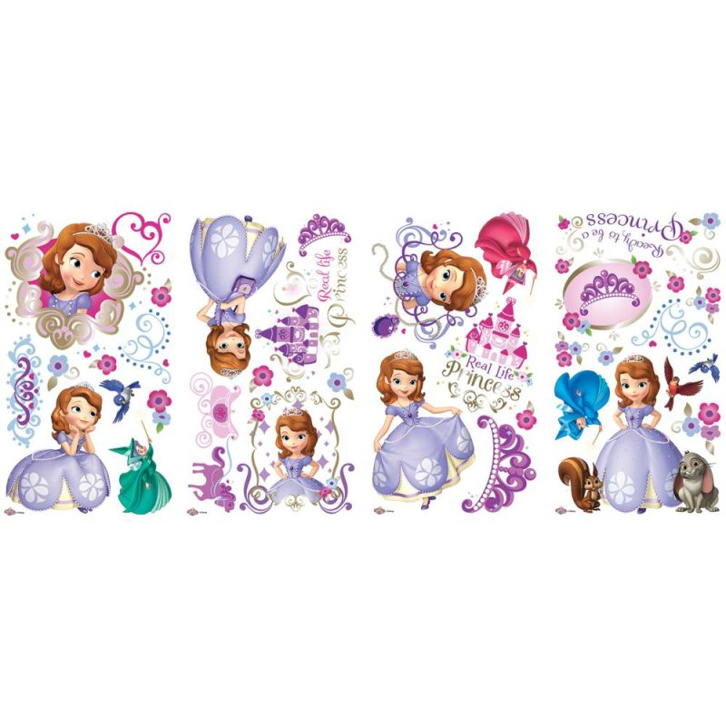 York Wallcoverings RMK2294SCS RoomMates Sofia the First Peel & Stick