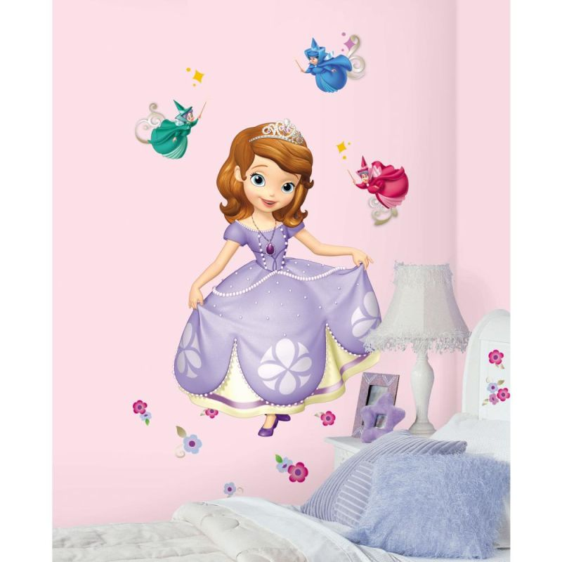 York Wallcoverings RMK2295SLM RoomMates Sofia the First Peel & Stick
