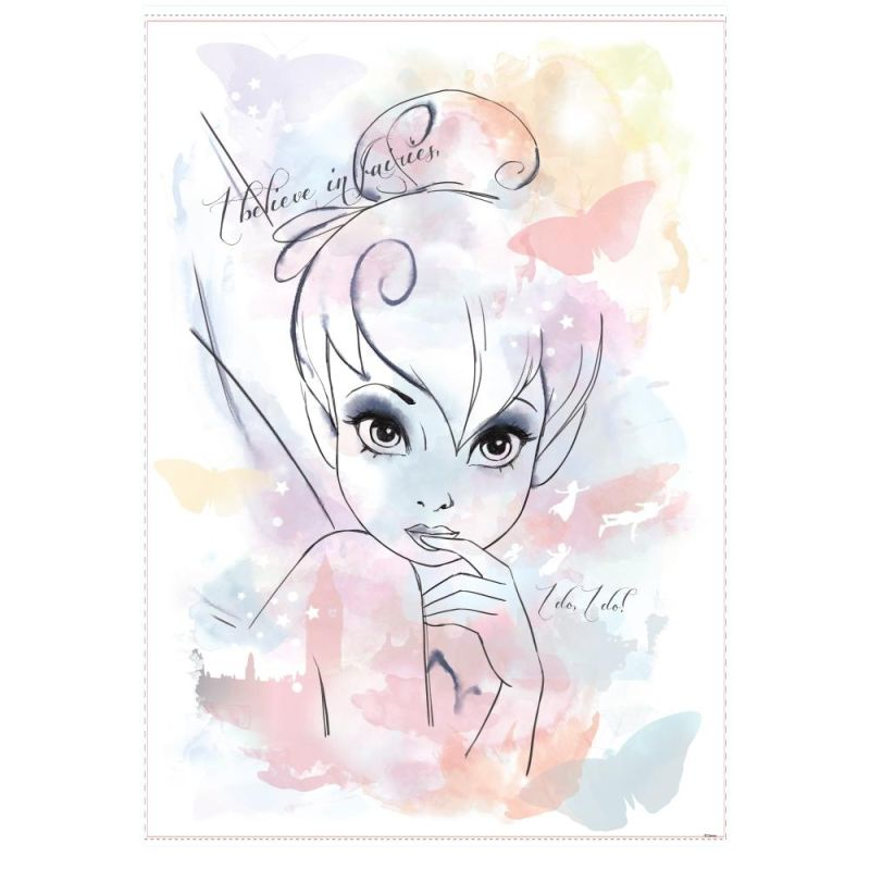 "York Wallcoverings RMK2377GM Tink ""I BelieveFairies"" Watercolor"