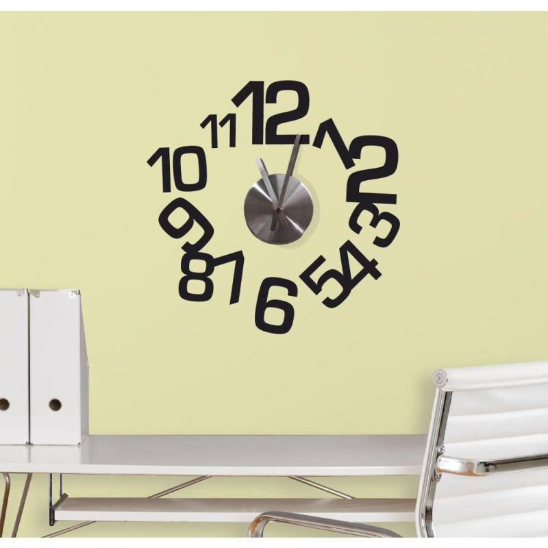 York Wallcoverings RMK2396CLK RoomMates Contemporary Clock Peel &
