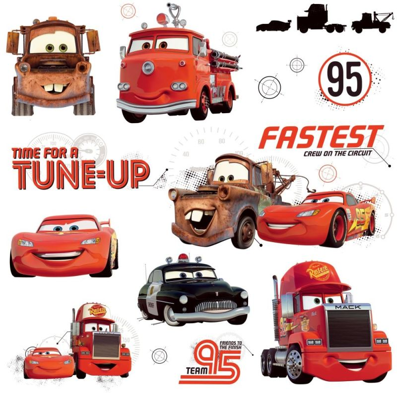 York Wallcoverings RMK2533SCS Disney Cars Friends to the Finish Peel Sale $13.99 ITEM: bci2666806 ID#:RMK2533SCS UPC: 34878949468 :