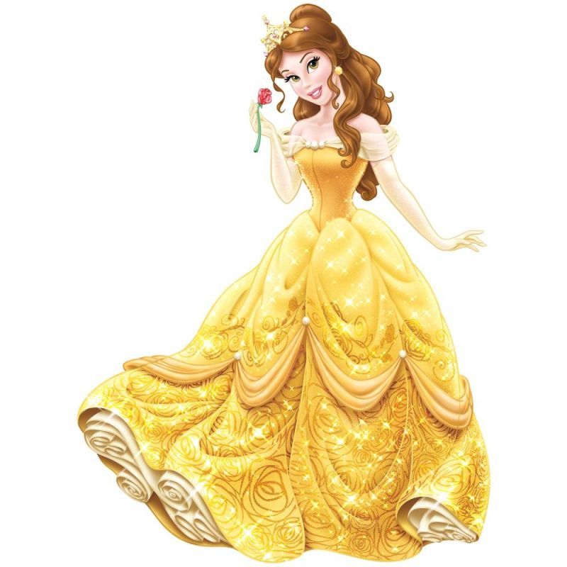 York Wallcoverings RMK2551GM Princess Belle Peel and Stick Giant Wall