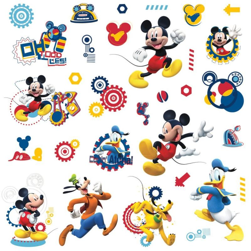 York Wallcoverings RMK2555SCS Mickey Mouse Clubhouse Capers Peel and