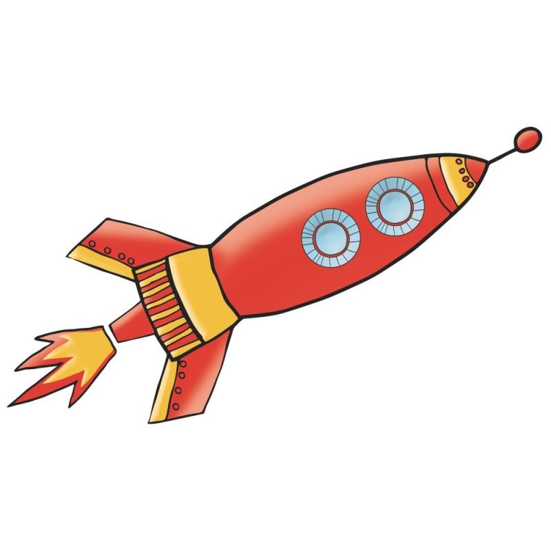 York Wallcoverings RMK2619GM Rocket Peel and Stick Giant Wall Decals
