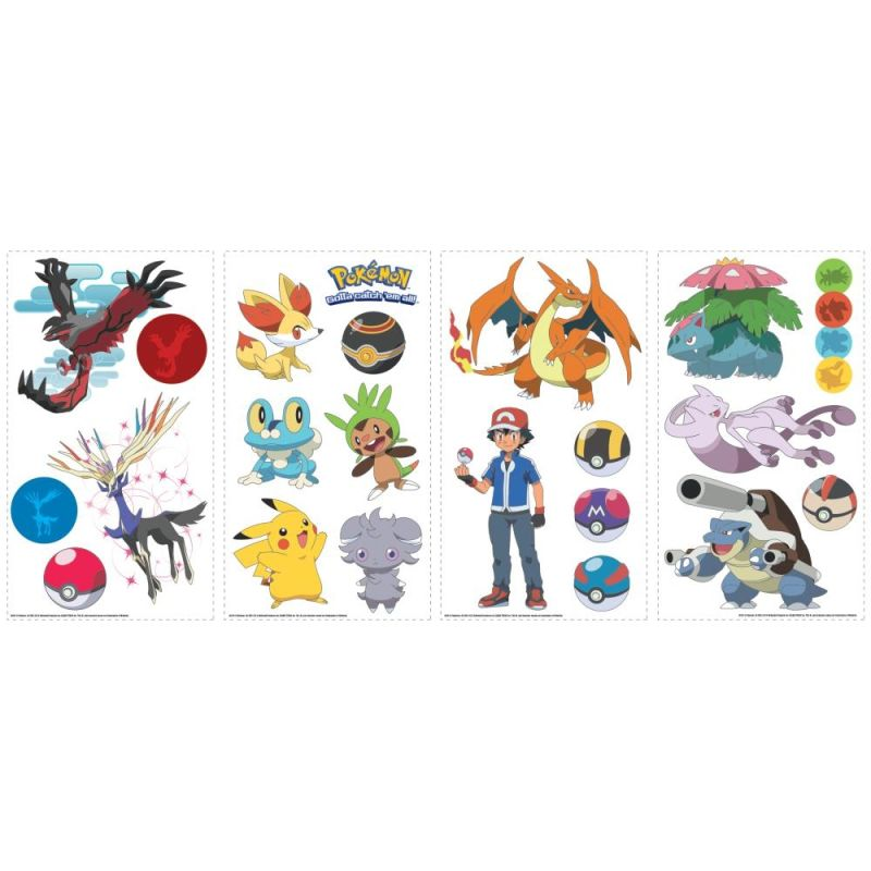 York Wallcoverings RMK2625SCS Pokemon XY Peel and Stick Wall Decals