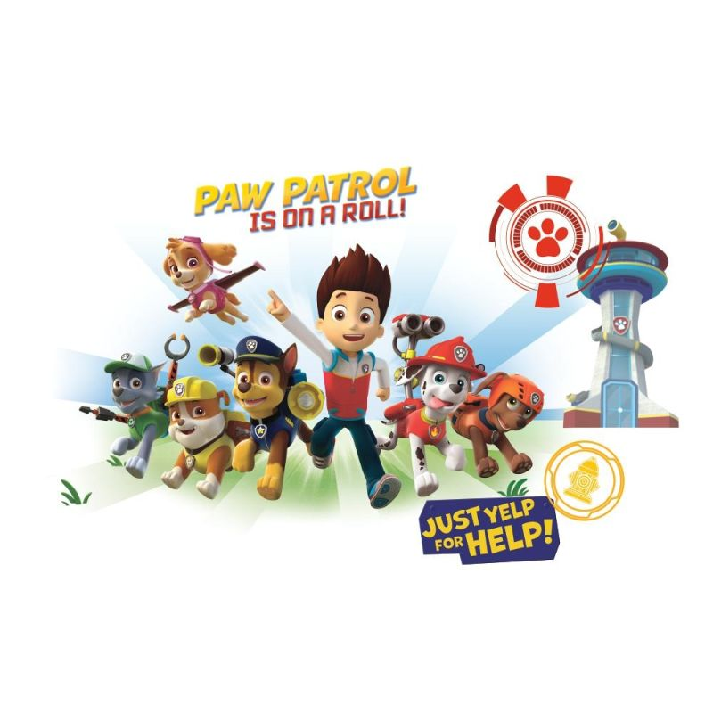 York Wallcoverings RMK2641GM Paw Patrol Wall Graphix Peel and Stick