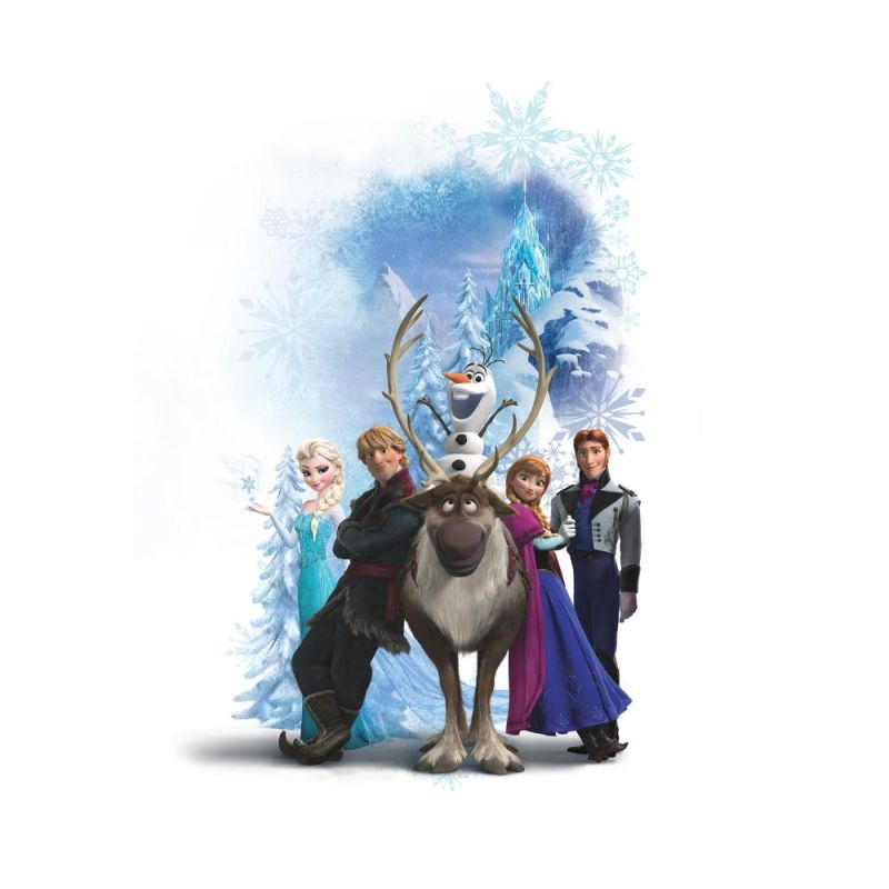 York Wallcoverings RMK2668GM Disney Frozen Character Winter Burst Peel