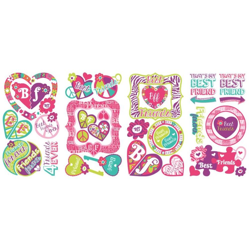 York Wallcoverings RMK2678SCS Best Friends Forever Peel and Stick Wall Sale $13.99 ITEM: bci2666490 ID#:RMK2678SCS UPC: 34878552484 :