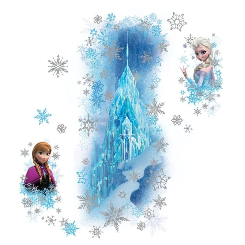 York Wallcoverings RMK2739GM Frozen Ice Palace with Else and Anna Peel