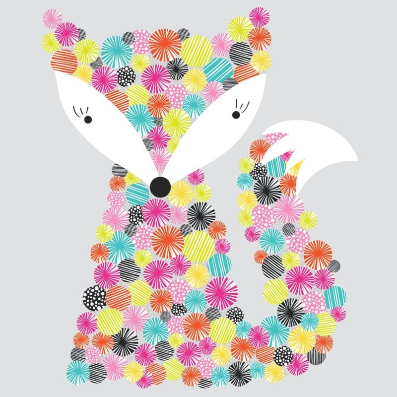 York Wallcoverings RMK2758GM Prismatic Fox Peel and Stick Giant Wall
