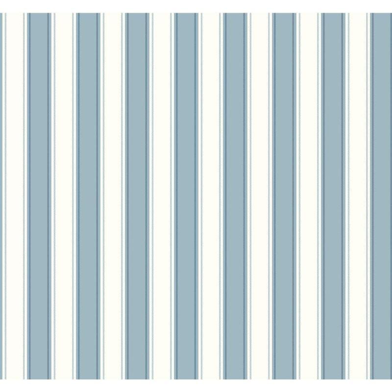 York Wallcoverings SA9158 Ashford Stripes Silk Stripe Wallpaper Blue
