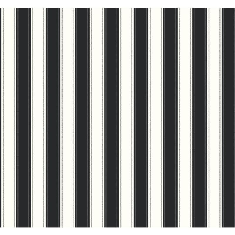 York Wallcoverings SA9159 Ashford Stripes Silk Stripe Wallpaper Black