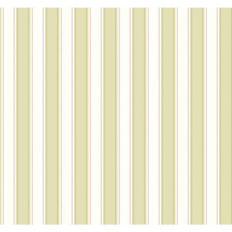 York Wallcoverings SA9163 Ashford Stripes Silk Stripe Wallpaper Green