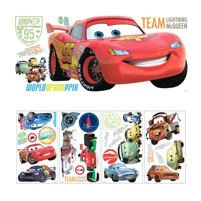 York Wallcoverings SET0009CRS Disney Cars Peel and Stick Wall Decal