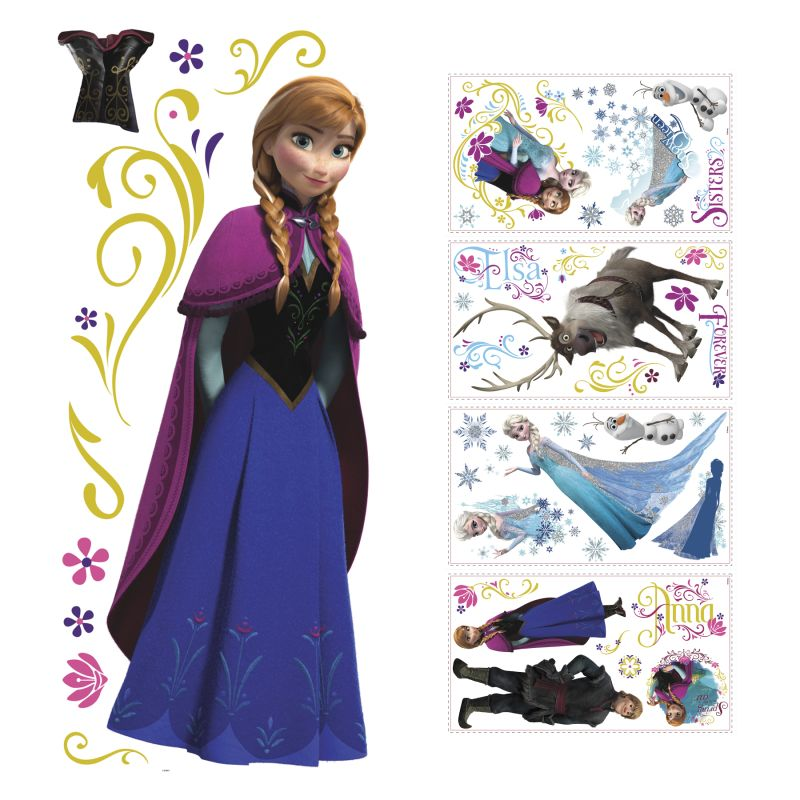 York Wallcoverings SET0014FRZ3 Disney Frozen Princess Anna Peel and