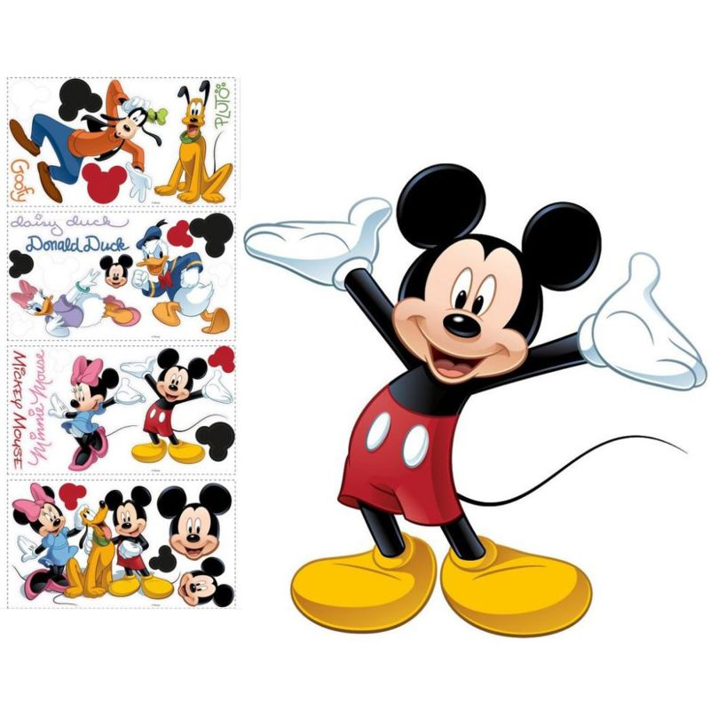 York Wallcoverings SET0017MM Mickey Mouse Peel and Stick Wall Decal