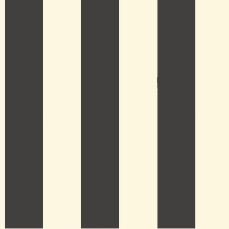 """York Wallcoverings ST5691 Ashford Stripes 3"""" Stripe Wallpaper Black"""