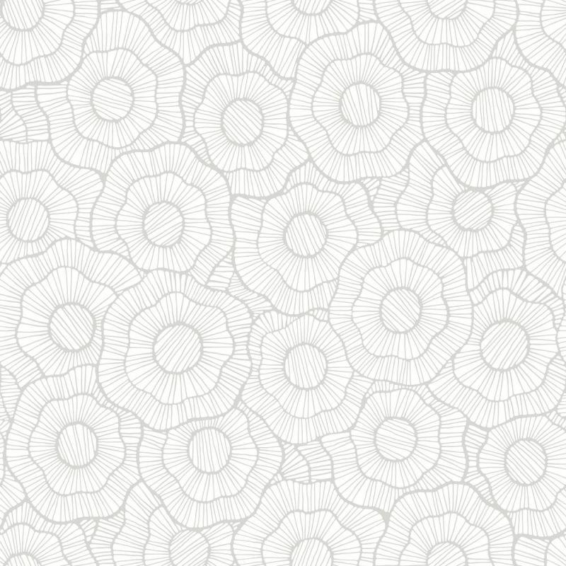 York Wallcoverings ST6004 Paper Muse Wild Poppies Wallpaper Metallic