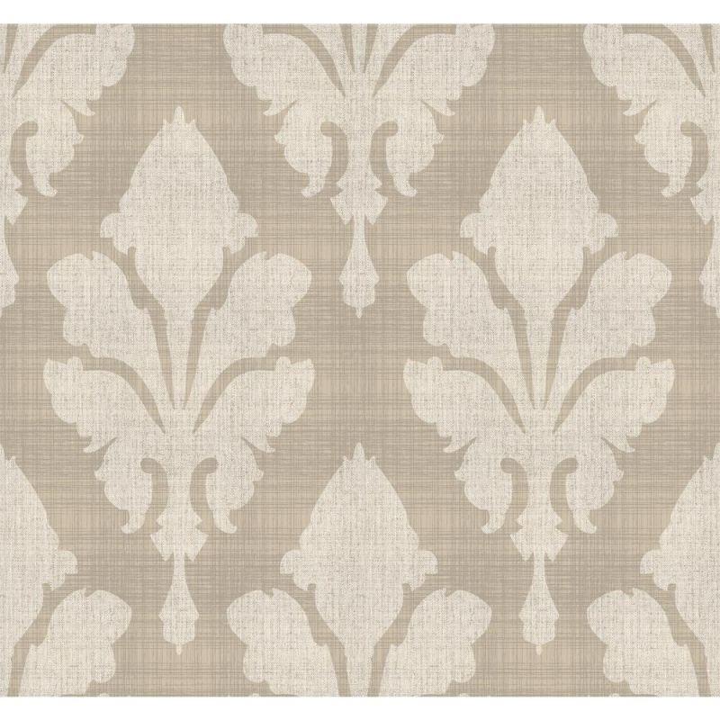 York Wallcoverings ST6050 Paper Muse Fleurish Wallpaper Tan Grey