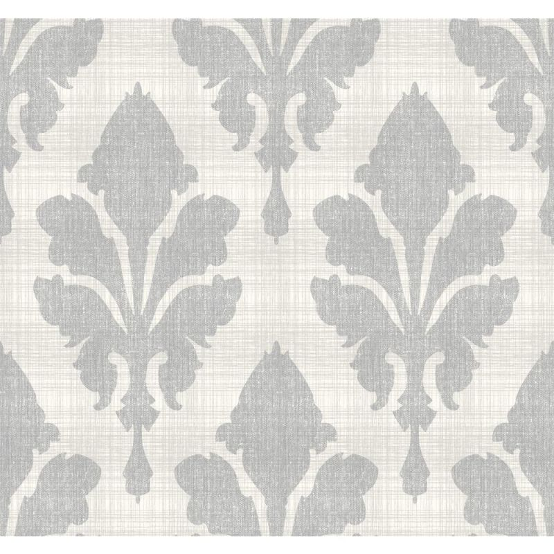 York Wallcoverings ST6052 Paper Muse Fleurish Wallpaper Pearlescent