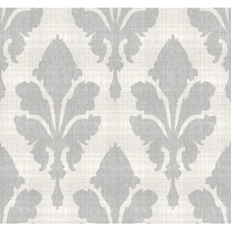 York Wallcoverings ST6052 Paper Muse Fleurish Wallpaper Pearlescent