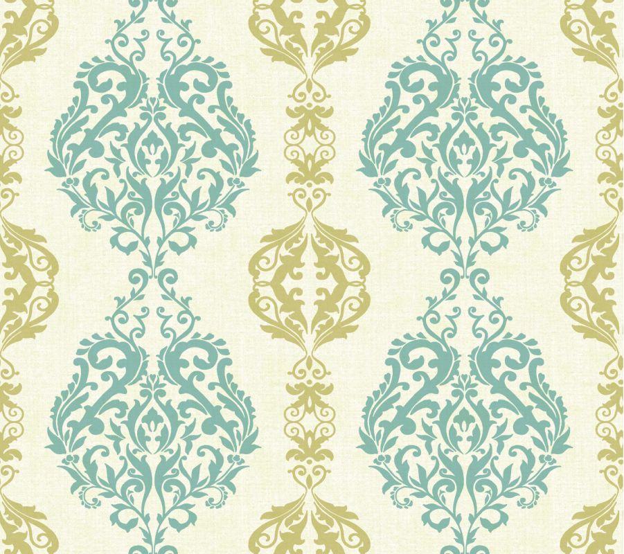 York Wallcoverings WB5439 Botanical Fantasy Damask Stripe Wallpaper