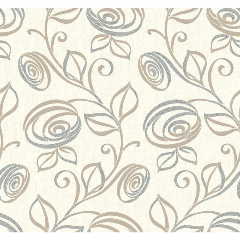 York Wallcoverings WH2600 Wallpap-Her Spiral Dance Wallpaper Warm