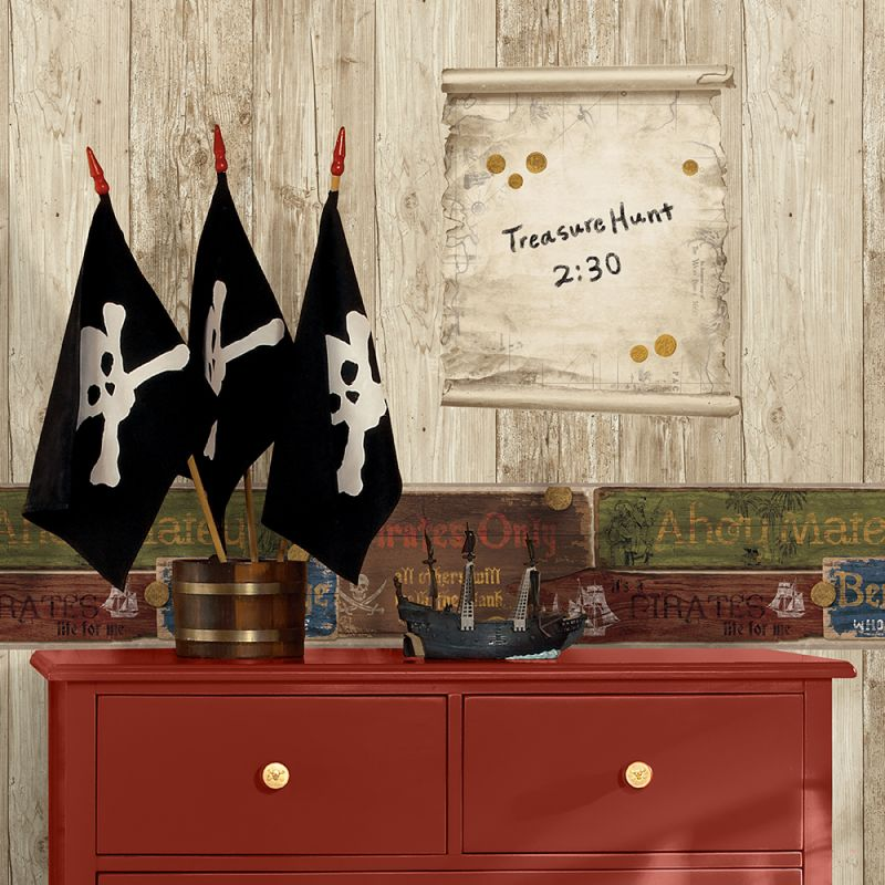 York Wallcoverings WIB1008 Pirate WallA Box Kit Ash / Pine / Oak /